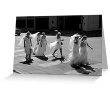 Bride Crossing Greeting Card