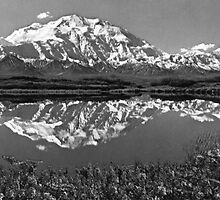 BW USA Alaska magnificent mt mckinley 1970s by blackwhitephoto