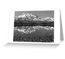 BW USA Alaska magnificent mt mckinley 1970s Greeting Card