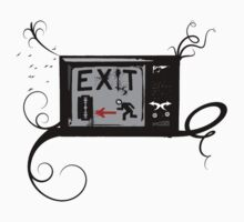Exist - Vintage TV - Exit - RUN AWAY FROM IT! Kids Clothes
