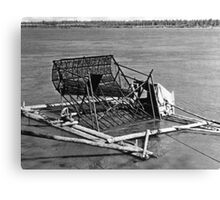 BW USA Alaska Yukon fish trap 1970s Canvas Print