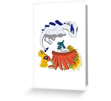 Ho oh and Lugia Greeting Card