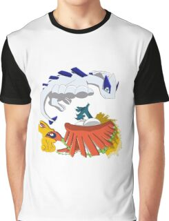 Ho oh and Lugia Graphic T-Shirt