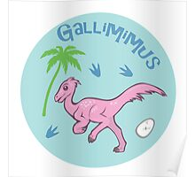 Cute Gallimimus Poster