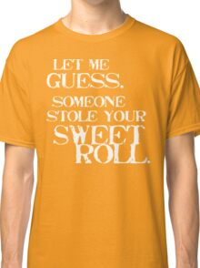 Sweetroll 1 White for low necked Classic T-Shirt
