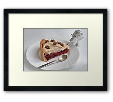 cake and angel Framed Print