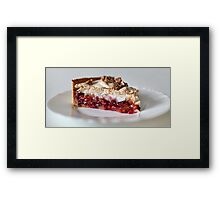 Meringues with plums Framed Print