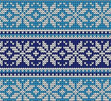 ugly christmas sweater blue and white by HolidaySwaggC