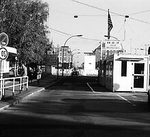 BW Germany Border posts East  West Berlin 1970s by blackwhitephoto