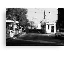 BW Germany Border posts East  West Berlin 1970s Canvas Print
