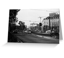 BW Germany Frankfurt opera 1970s Greeting Card
