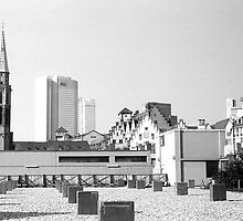 BW Germany Frankfurt Old Saint Nicholas Church 1970s by blackwhitephoto