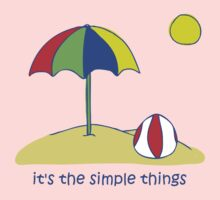 Simple Things - Beach Ball One Piece - Long Sleeve