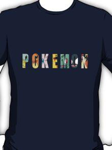 Pokemon Text T-Shirt
