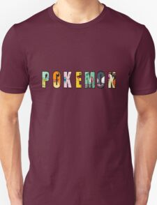 Pokemon Text T-Shirt