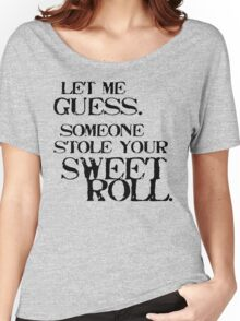 Sweetroll 1 Black for low necked Women's Relaxed Fit T-Shirt