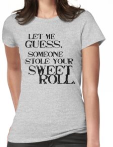 Sweetroll 1 Black for low necked Womens Fitted T-Shirt