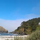 Bed and Breakfast at Heceta Lighthouse, Oregon by GreyFeather