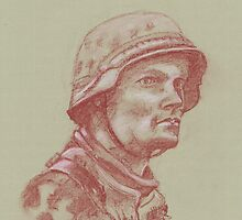 Waffen SS Grenadier Portrait by Phil Willetts