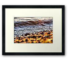 Bokeh at the beach Framed Print