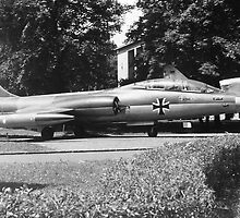 BW Germany Munich Deutsch Museum starfighter 1970s by blackwhitephoto