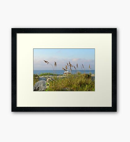 A beautiful Morning at the Beach Framed Print
