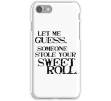 Sweetroll 1 Black for high necked iPhone Case/Skin