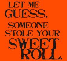 Sweetroll 1 Black for high necked Kids Tee
