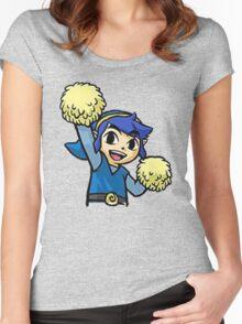 Legend of Zelda - Pom pom Link (Blue) Women's Fitted Scoop T-Shirt
