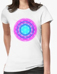 Flower of Life Sacred Geometry 2 Womens Fitted T-Shirt