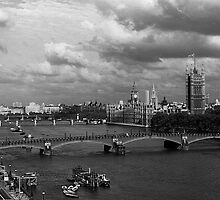 BW UK England London The River Thames 1970s by blackwhitephoto