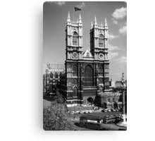 BW UK England London Westminster Abbey 1970s Canvas Print