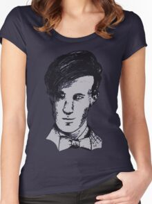 The 11th Doctor - Drawing  Women's Fitted Scoop T-Shirt