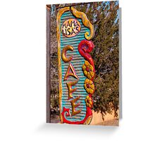 Cafe in Madrid, New Mexico Greeting Card