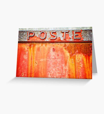Poste- Italian weathered mailbox Greeting Card