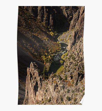 Black Canyon & Fall Colors Poster