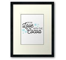 I <3 Cocoa (black) Framed Print