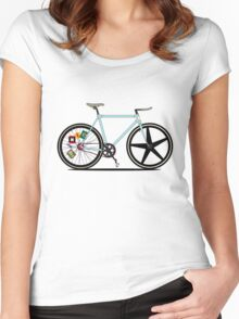 Fixie Bike Women's Fitted Scoop T-Shirt
