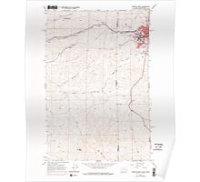 USGS Topo Map Indiana ID Moscow West 237269 1964 24000 Poster