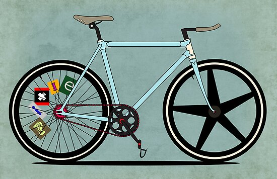 Fixie Bike by Andy Scullion