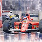 Ferrari F1 Jean Alesi Phoenix US GP Arizona 1991 by Yuriy Shevchuk