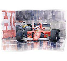 Ferrari F1 Jean Alesi Phoenix US GP Arizona 1991 Poster