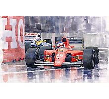 Ferrari F1 Jean Alesi Phoenix US GP Arizona 1991 Photographic Print