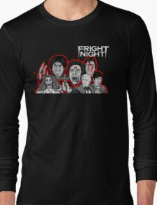 fright night character collage Long Sleeve T-Shirt