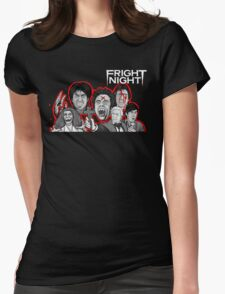 fright night character collage Womens Fitted T-Shirt