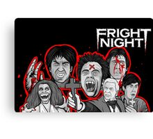 fright night character collage Canvas Print