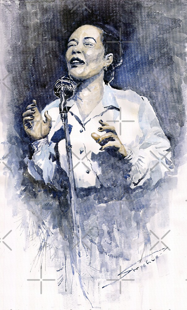 Jazz Billie Holiday Lady Sings The Blues  by Yuriy Shevchuk