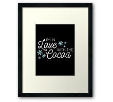 I <3 Cocoa (white) Framed Print