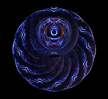Double Spiral Lens' II by Hugh Fathers