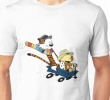 calvin and hobbes blue scooter Unisex T-Shirt